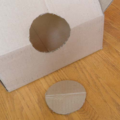 Cardboard Box with hole