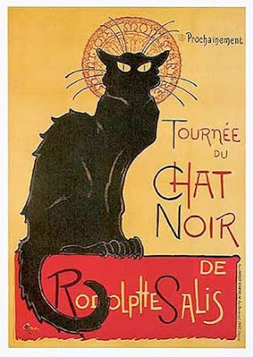 Chat Noir French Cat Poster.