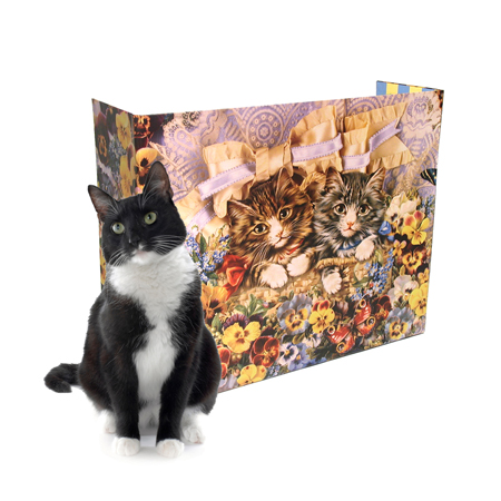 Kitty Planet Floral LItter Screen