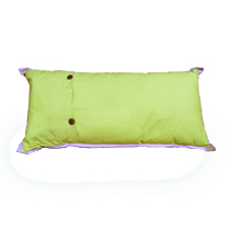 Kitty Planet embroidered pillow back