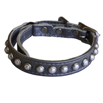 KItty Planet South Sea Pearl Leather Safety Cat Collar in Fairy Tale (silver)