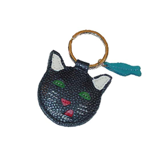 Leather Cat Key Chain
