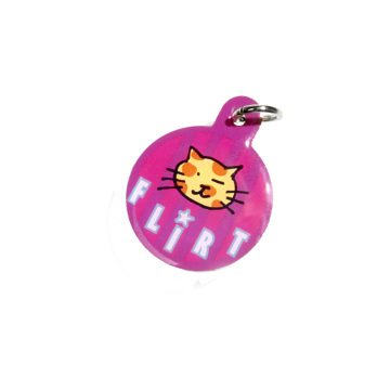 Kitty Planet Engraved Enamelled Cat Tag Flirt